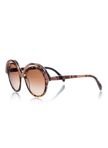 Emilio Pucci  Ep 0065 56F Kadın Güneş Gözlüğü Kahve